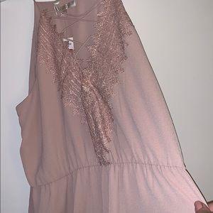 Size XXL, blush, maxi dress, beautiful!